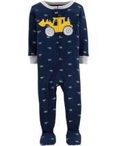Carter's Boys' 1-Piece Footed Pajamas (4t, Navy/Construction) - $18.05