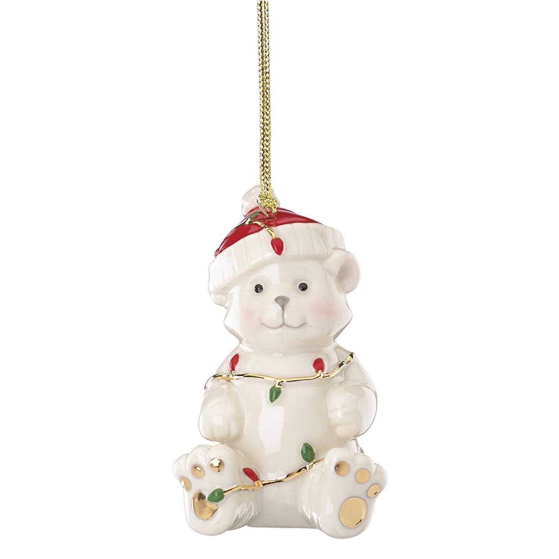 Lenox 868116  Christ Tree Ornament - Tangled Christmas Bear  - $14.80