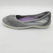 Lands End Womens Water Ballet Flat Shoes Silver Frost Round Toe Slip On 7.5 D - $23.50
