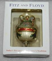 Fitz & Floyd Jolly Ole St. Nick Glass Ornament Holiday Christmas - $37.39