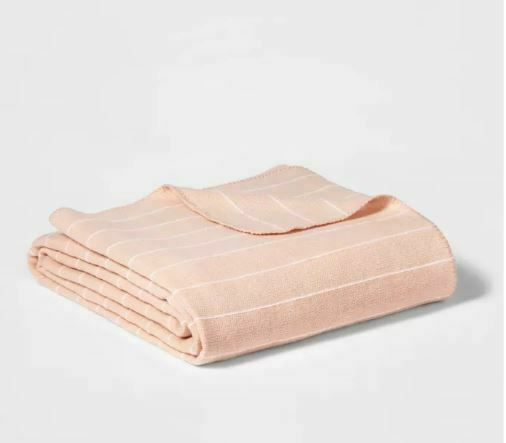 "Project 62 + Nate Berkus Modern Striped Bed Blanket Pink 108"" x 92"" King"
