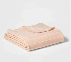 "Project 62 + Nate BerkusModern Striped Bed Blanket Pink 108"" x 92"" King"
