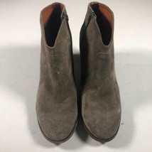 Frye booties boots brown suede Leather Women 8.5 heeled - $64.99
