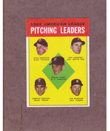 1963 Topps # 8 1962 A.L. Pitching Leaders Jim Bunning Ralph Terry Nice Card - $3.99