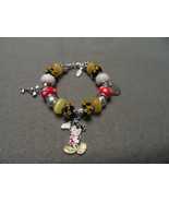 Authentic Pandora bracelet with Disney Mickey Mouse themed beads - $82.00