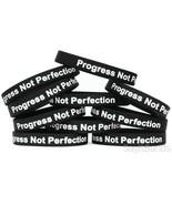 10 Progress Not Perfection Wristbands, Motivation Inspiration Recovery B... - $13.74