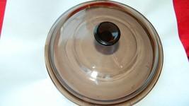 Pyrex Visions V-1.5-C Amber Lid Fits 1.5 Liter Saucepan Free Usa Shipping - $16.82