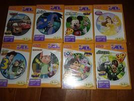 Lot 8 iXL Learning System Games Disney Princess Dora Toy Story 3 Cars FREE SHIP - $14.99