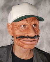 Blues Musician Mask Male African American Mustache Cap Halloween Costume... - $72.92 CAD