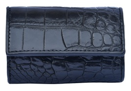 Innovative Black Pearl Trifold Style Real Crocodile Leather Men Newly Key Wallet - $176.39