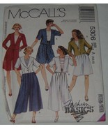 McCalls Sewing Pattern 5306 Womens Jacket Split Skirt Size A 6,8,10 Uncut - $8.90