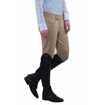 Equine Couture Ladies Oslo Knee Patch Breeches Safari size 26 image 3