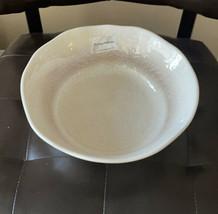 TOMMY BAHAMA Serving Salad Platter Rustic Beige Bone Brown Crackle - $32.98