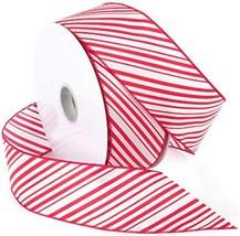 Morex Ribbon 7410.60/50-609 garden, 2.5-In x 50-Yd Red / White