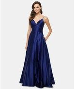 Betsy & Adam Satin Evening Gown Royal Size 6 $259 - $151.99
