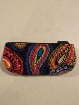 Vera Bradley Brush & Pencil in Colorful Twilight Paisley, Used In Good C... - $9.00