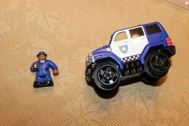 HTF Fisher Price Geo Trax police rescue with lights and sounds and figur... - $9.99