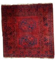 Hand made antique Afghan Ersari rug 3.6' x 3.7' ( 112cm x 115cm ) 1900s ... - $1,140.00