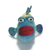 Webkinz Ganz Pucker Fish Plush Blue Red Metallic Stuffed Animal No Code - $9.74