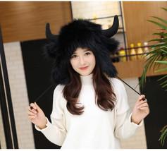 Kawaii Clothing Ropa Harajuku Hat Beanie Fur Horns Ears Cat Gorro Gato C... - $24.50