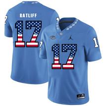 Men's North Carolina Anthony Ratliff-Williams 17 USA Flag Jersey Blue - $52.24