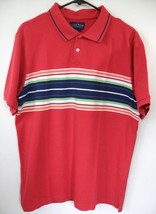Polo Shirt Mens XL Club Room Red Blue 100% Cotton Short Sleeves T-Shirt ... - £6.71 GBP
