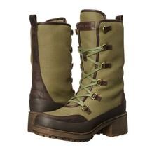 Lucky Brand Alascan Hiking Boots Women's size 6 Faux Fur Dark Moss/Java - $38.47