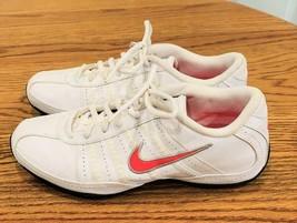 2010 NIKE  Cortez Tennis Shoes White w/ Red Swoosh Size 7 - $69.09
