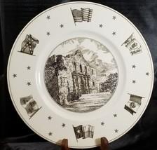 Vintage WEDGWOOD England Texas Plate The Alamo Neiman Marcus - $140.20