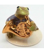"""Hagen Renaker Specialties """"Toadally Brass Band"""" Frog French Horn Player ... - $25.99"""