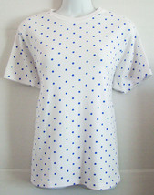 Karen Scott ~ Woman's Pullover Shortsleeve Shirt ~ Size Small ~ White wi... - $3.83