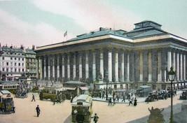 PARIS Exchange La Bourse France - 1900s Photo Chromotype Print Color - $10.33