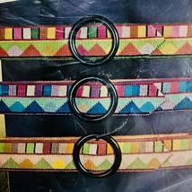 Vtg Bucilla Allegro Needlepoint Belt Kit 4343 Choose Color Blue Rust or ... - $21.24