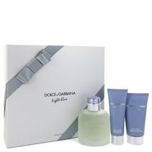 Dolce & Gabbana Light Blue Pour Homme Cologne 4.2 Oz EDT Spray 3 Pcs Gift Set  image 2