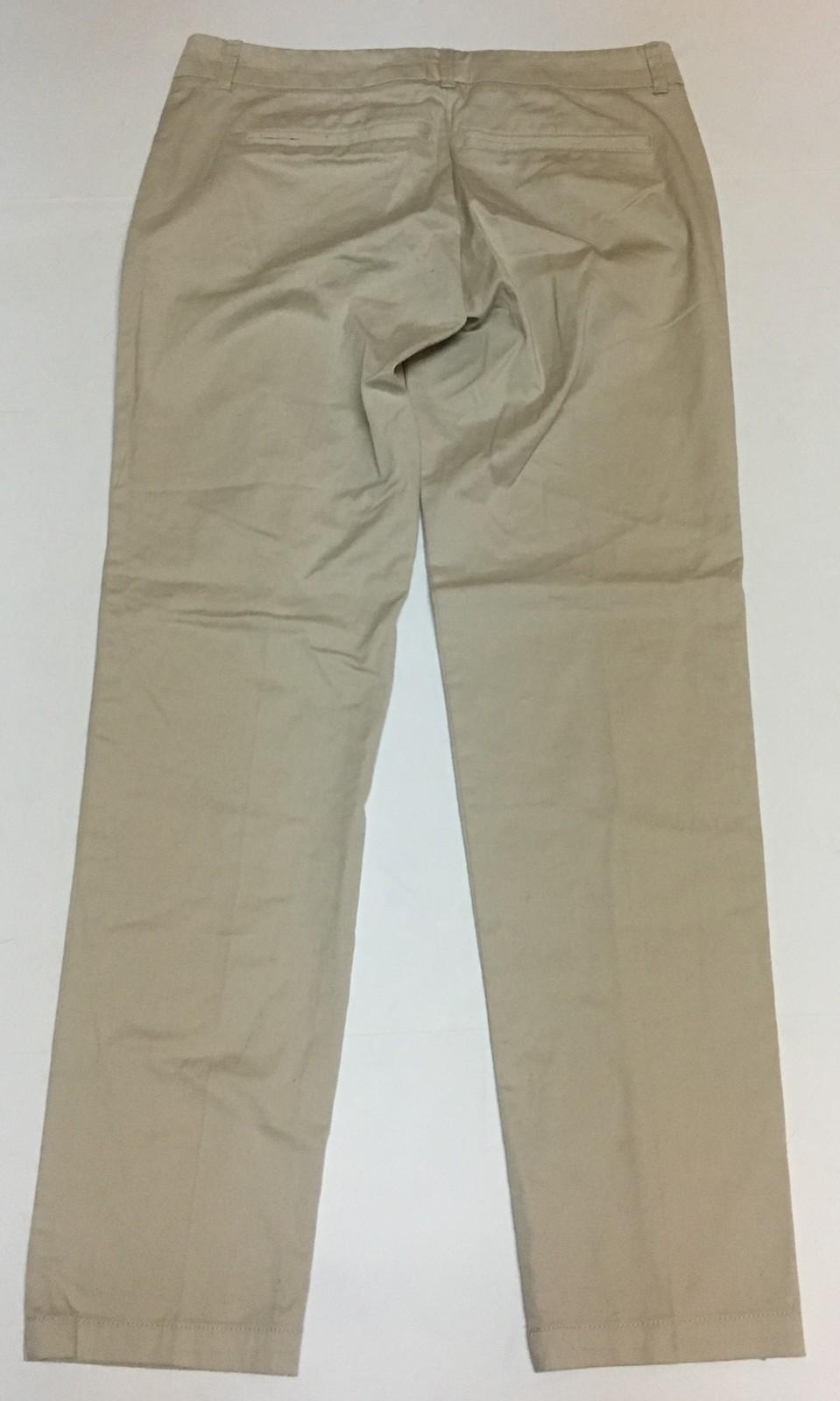 New York & Co Ankle Pants Beige Sz 0 NWT Slim Leg