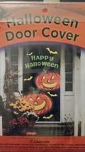 Halloween Door Cover 30 x 72 Happy Jack O'Lanterns - $3.29