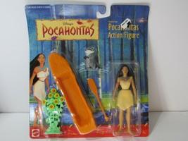 VTG 90s Mattel Disney Pocahontas Action Figure w/ Meeko the Raccoon - NIB - $24.75
