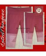 Lululemon M/8 Maroon Heather Ribbed Crop Pants Leggings - $44.54
