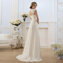 Simple Empire Waist Wedding Dress for Pregnant Woman Chiffon Boho Bride Dress Ho image 3