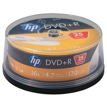 HP DR16025CB 4.7GB 16x DVD+Rs (25-ct Cake Box Spindle) - $23.57