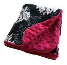 CANOPY COUTURE Infant Car Seat Cover Fuschia  Minky Dot & Black White Da... - $14.45