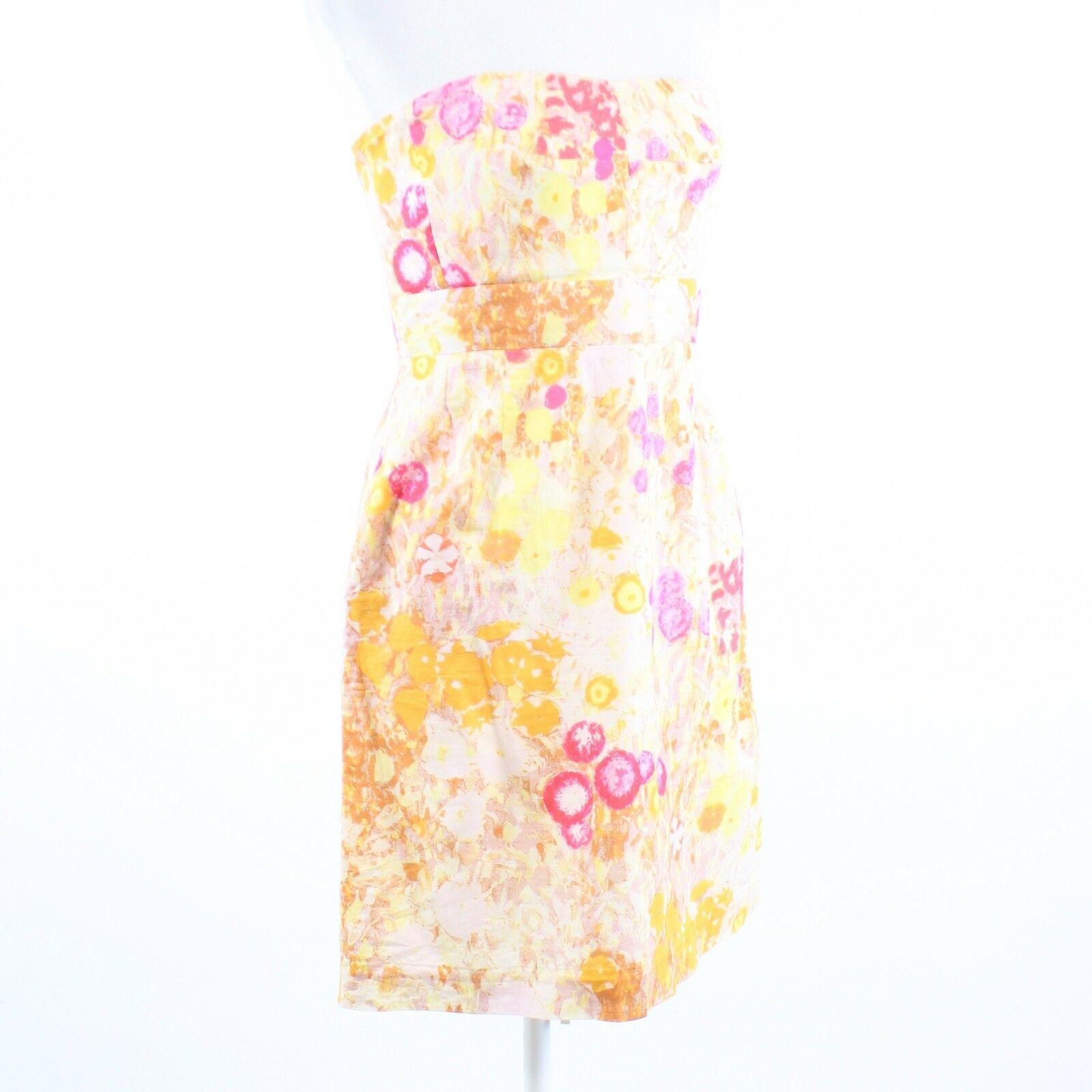 Multicolor floral print 100% cotton J. CREW sun dress 6 image 3