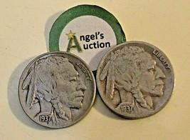 Buffalo Nickel 1937 P and 1937 S  AA20BN-CN7001