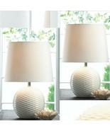 "Set 2 Fairfax 16.4"" White Ceramic Base Table Lamp with Shade - $69.15"