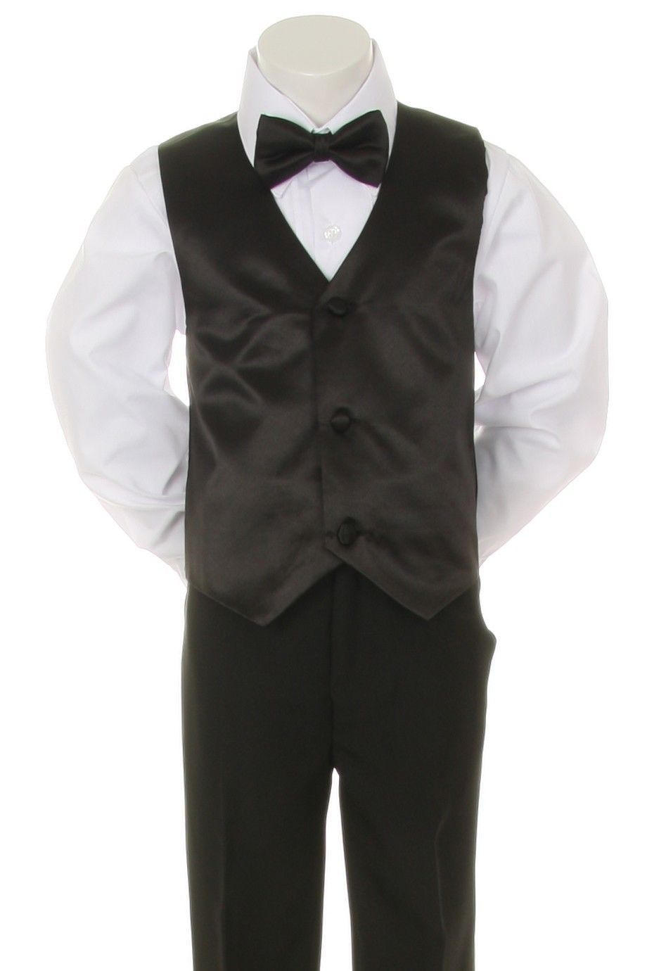 926c29045 New Baby Boy Formal Wedding Party 7pc Black and 26 similar items