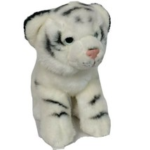 "Toys R Us Bengal White Tiger Zoo Animal Plush Stuffed Animal 2012 9"" Tall - $26.42"