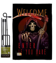 Enter If You Dare Burlap - Impressions Decorative Metal Garden Pole Flag... - $33.97