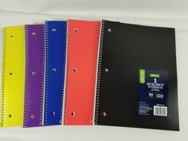 """6 PACK - Pen+Gear Poly 1 Subject 80 Sheets College Rule Notebook 10.5"""" x 8"""" - $14.88"""
