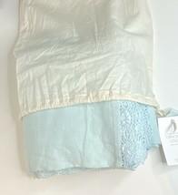 Restoration Hardware Garment-Dyed Crochet Linen Duvet Full/Queen Aqua NE... - $199.99