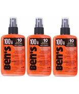 3 Pack Ben's 100% Deet Tick Bug & Insect Military Repellent Spray Pump 3... - $32.99